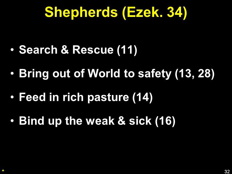 Shepherds (Ezek.
