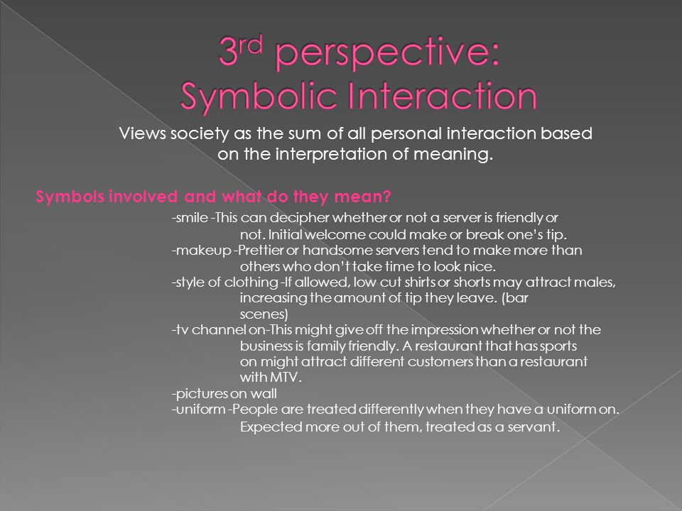 Views society as the sum of all personal interaction based on the interpretation of meaning.