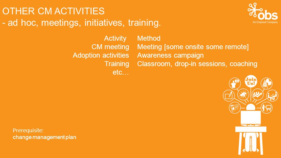 OTHER CM ACTIVITIES - ad hoc, meetings, initiatives, training.