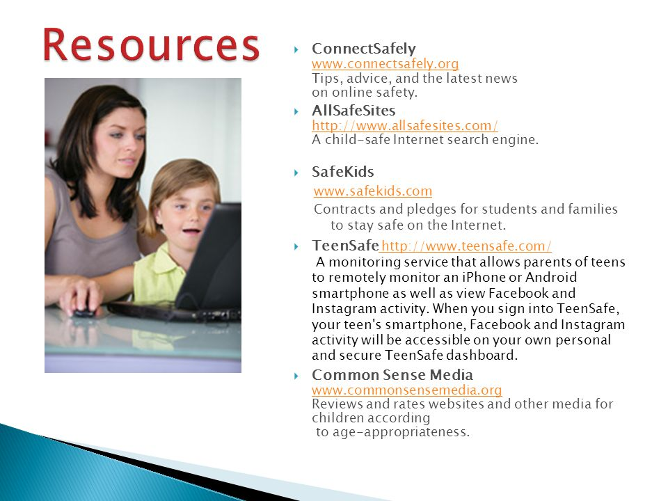  ConnectSafely www.connectsafely.org Tips, advice, and the latest news on online safety.
