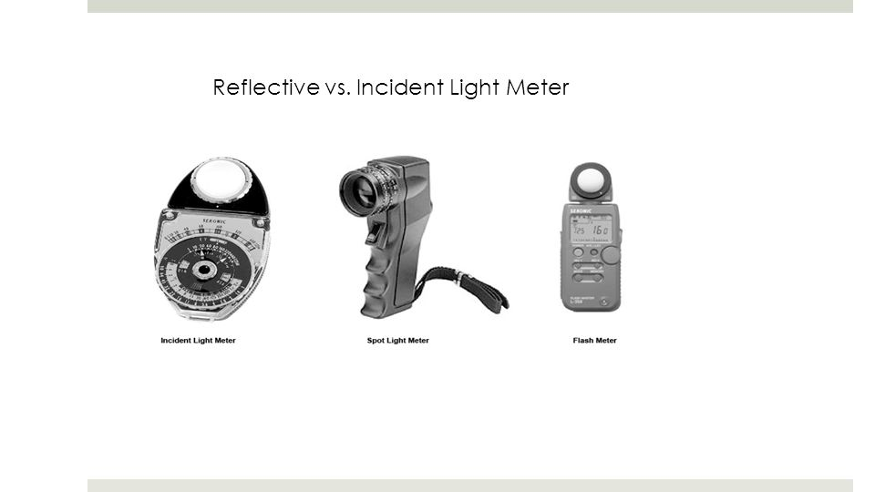 Reflective vs. Incident Light Meter