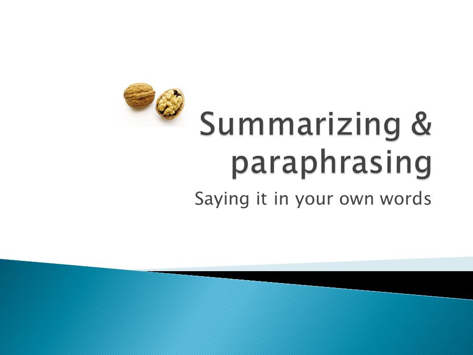Summaries and paraphrases have a lot in common.