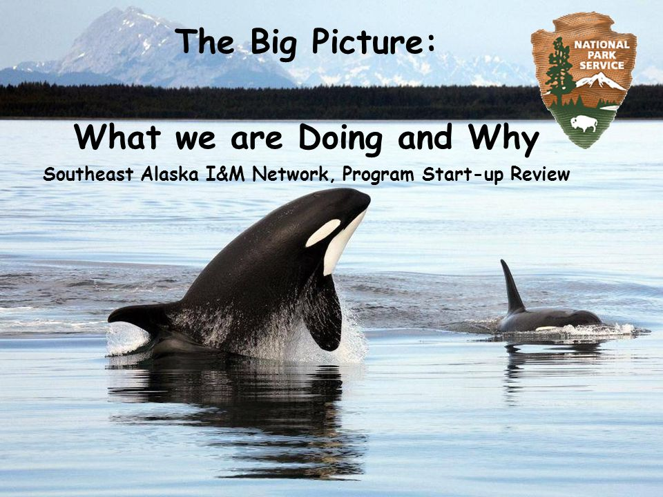 The Big Picture: What we are Doing and Why Southeast Alaska I&M Network, Program Start-up Review