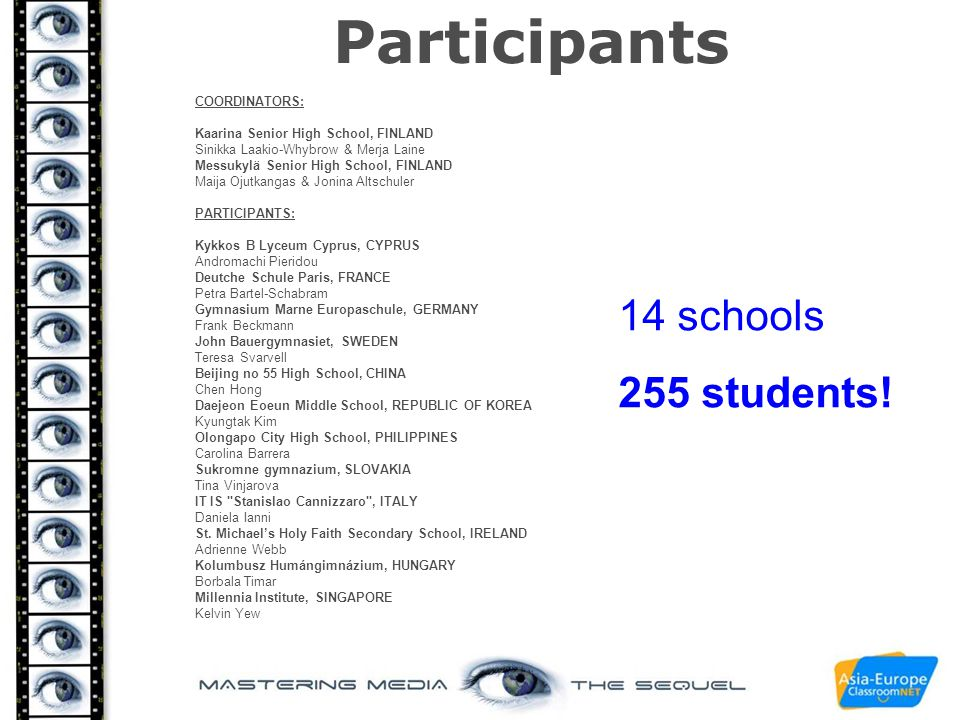 - introductory task to compare if students in the different countries like the same films