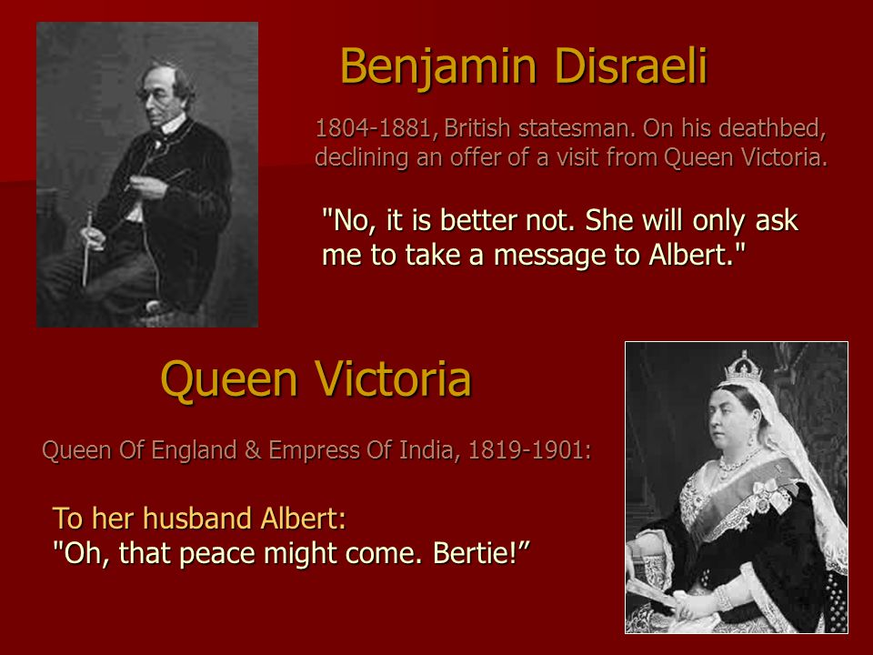 Queen Victoria Queen Of England & Empress Of India, 1819-1901: To her husband Albert: