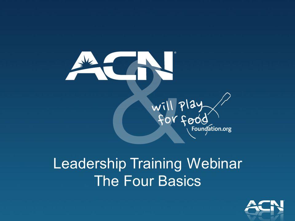Leadership Training Webinar The Four Basics