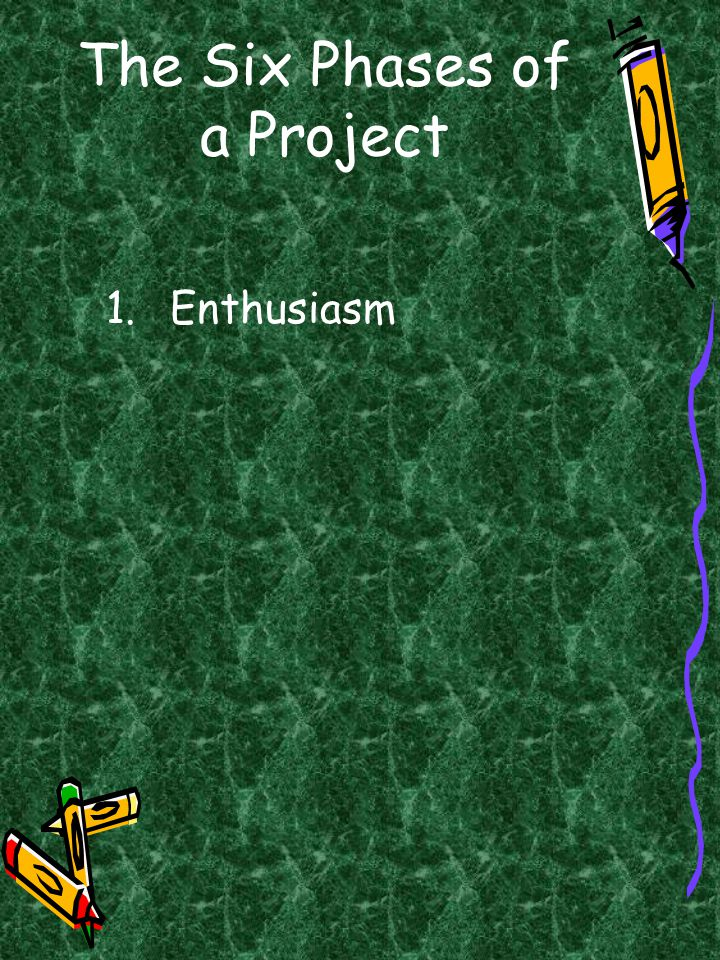 The Six Phases of a Project 1.Enthusiasm
