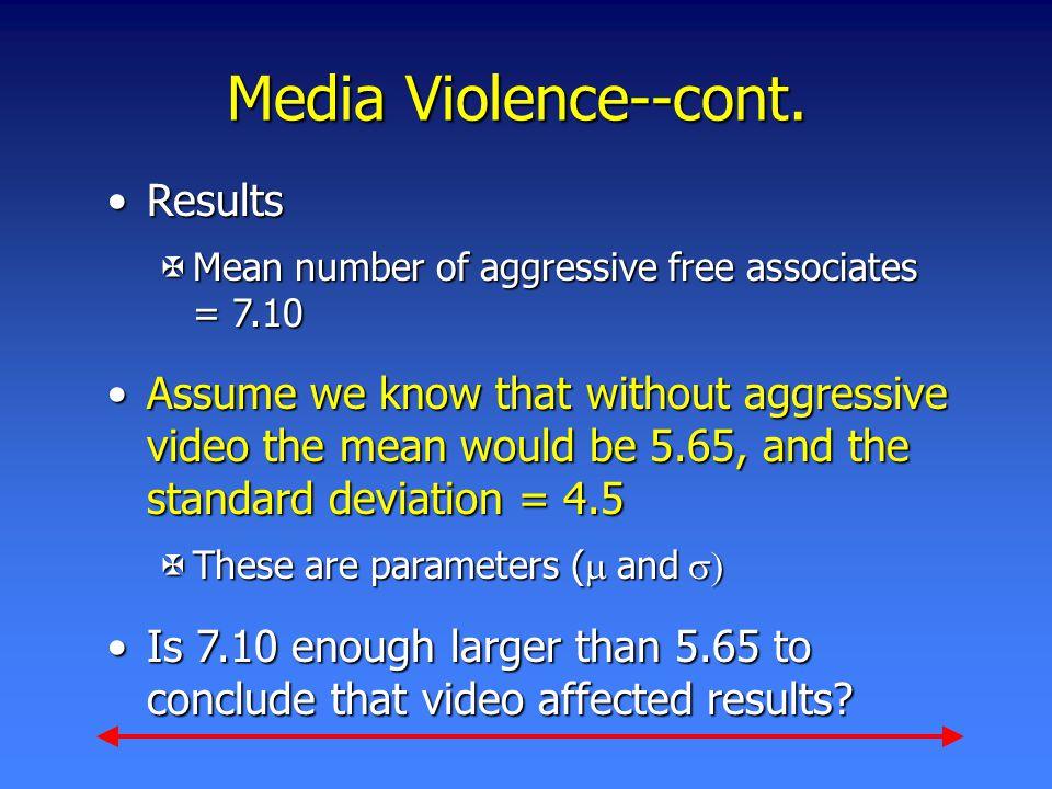 Media Violence--cont.