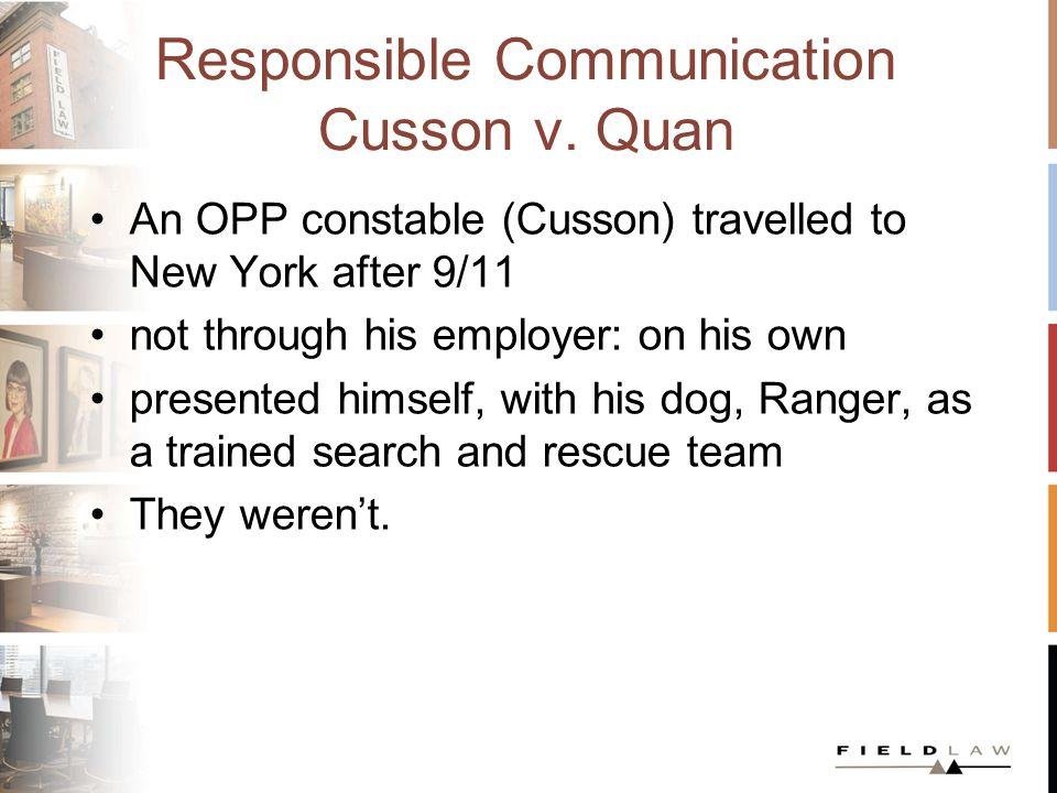 Responsible Communication Cusson v.