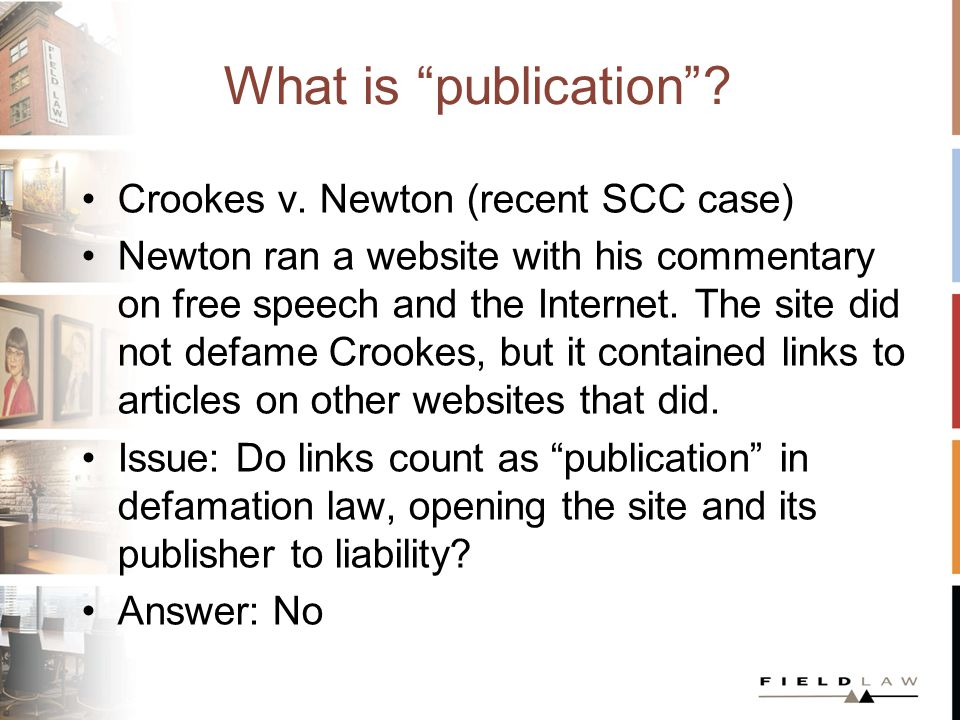 What is publication . Crookes v.
