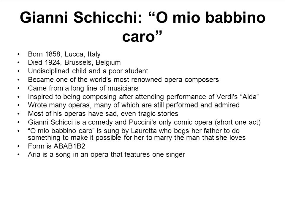 "Puccini Gianni Schicchi: ""O mio babbino caro"" Firebird: ""Infernal Dance"" ""Maple Leaf Rag""Carnival of the Animals: ""Fossils"""