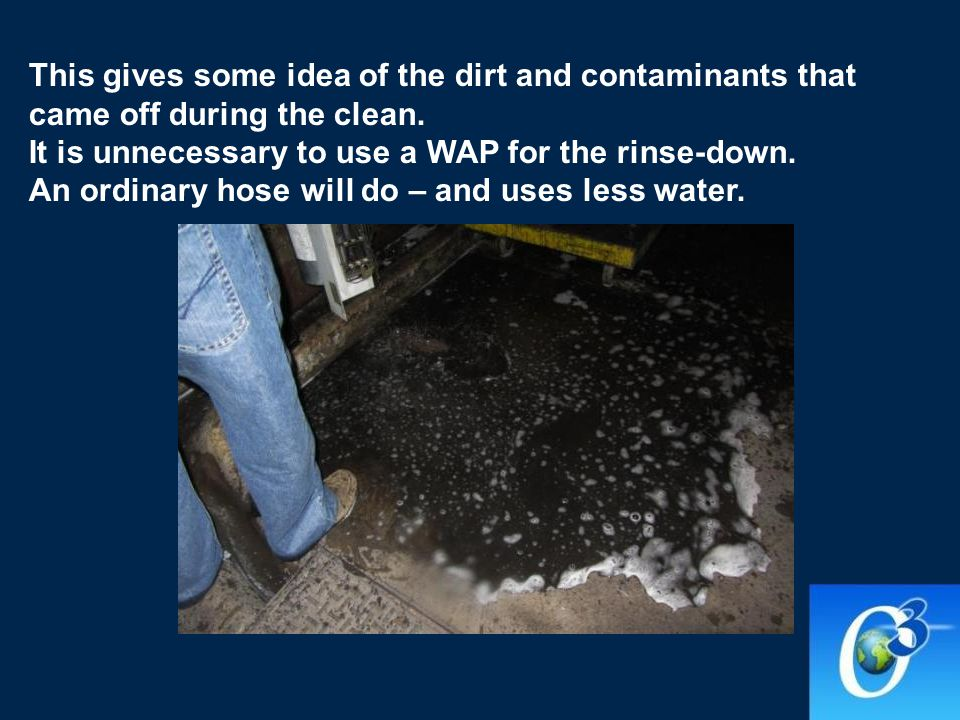 This gives some idea of the dirt and contaminants that came off during the clean.