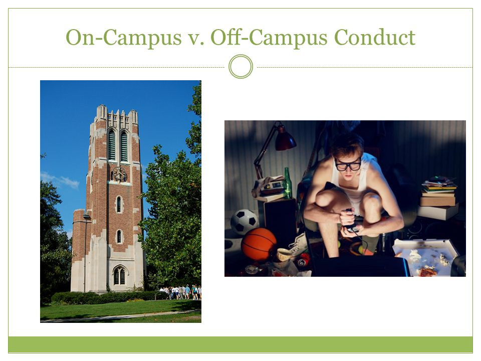 On-Campus v. Off-Campus Conduct