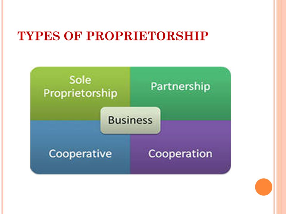 TYPES OF PROPRIETORSHIP
