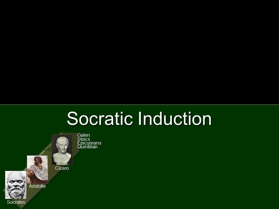 Socratic Induction Aristotle Socrates Cicero GalenStoicsEpicureansQuintilian