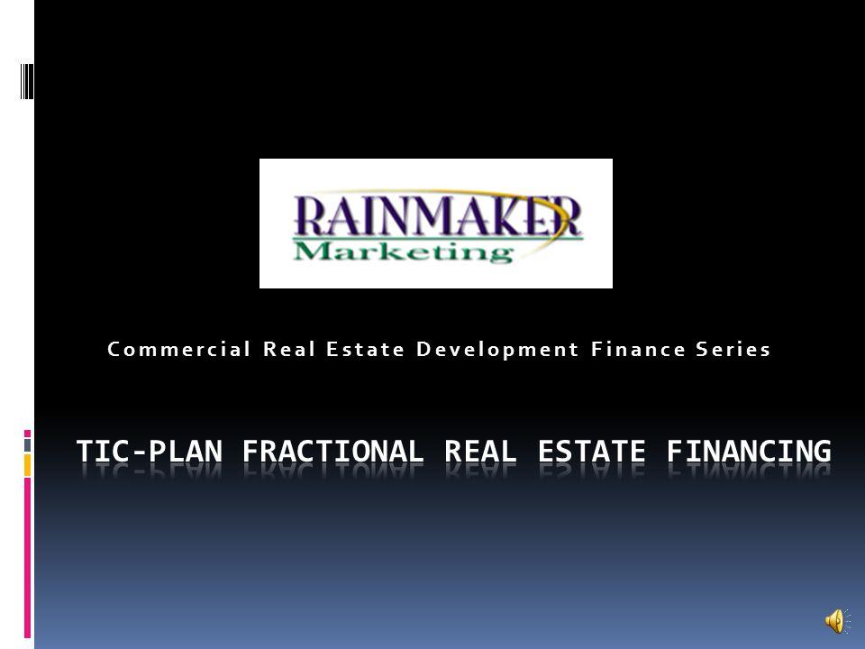 Commercial Real Estate Development Finance Series