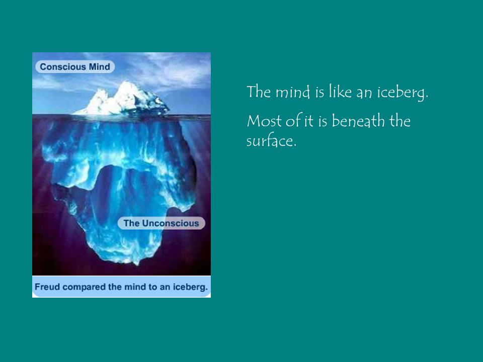 The mind is like an iceberg. Most of it is beneath the surface.