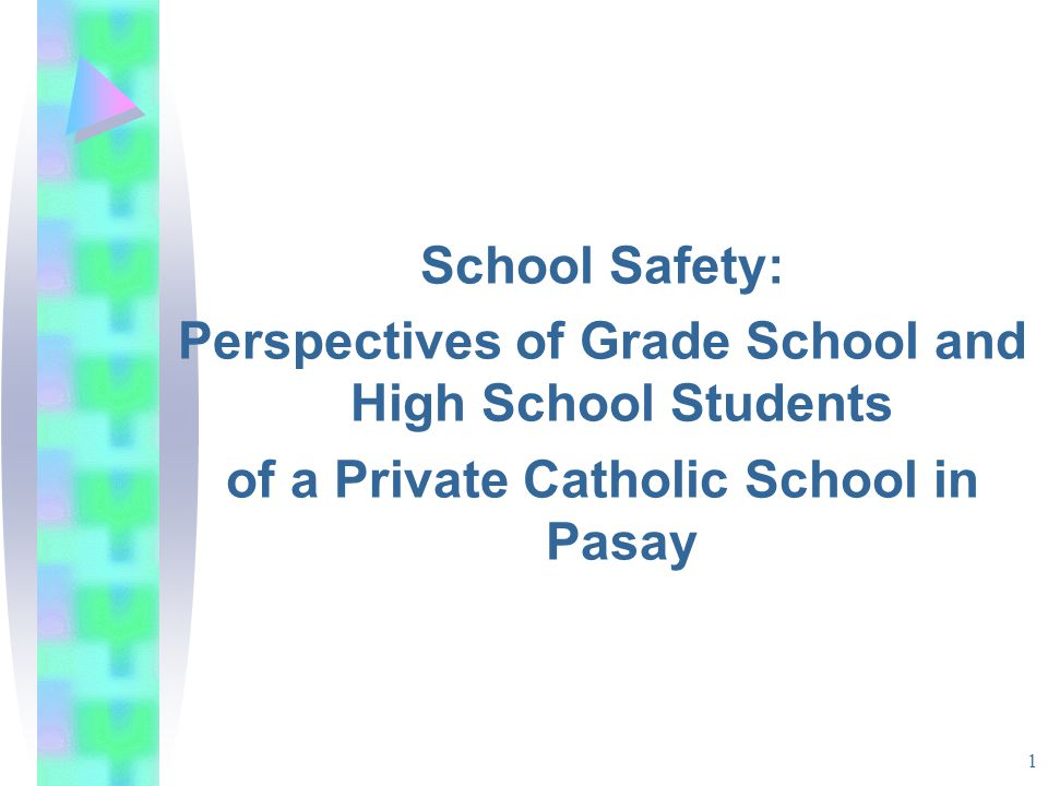 INTRODUCTION School safety affects school climate.