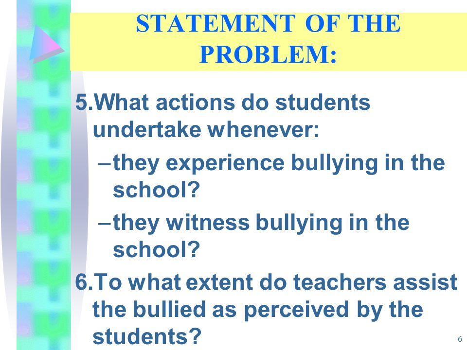 CONCLUSIONS 1.Students' feelings of school climate is positive.