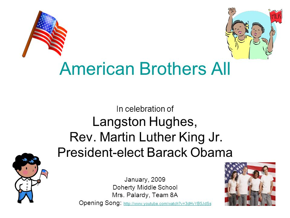 American Brothers All In celebration of Langston Hughes, Rev.