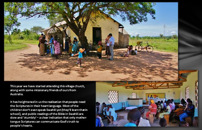 This year we have started attending this village church, along with some missionary friends of ours from Australia.