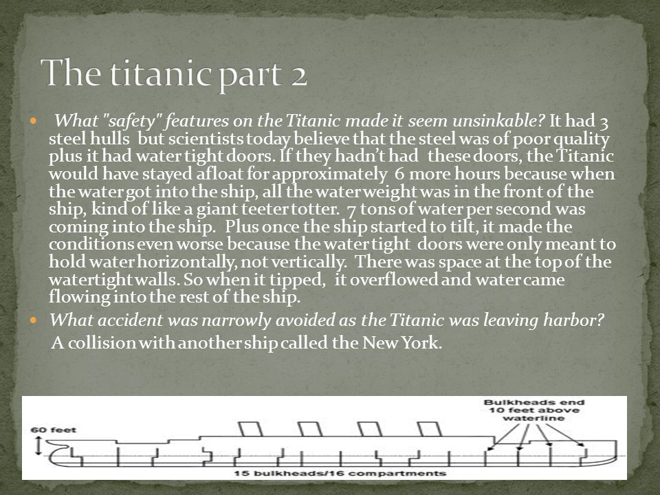 What safety features on the Titanic made it seem unsinkable.
