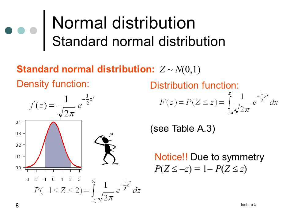 lecture 5 9 We typically have X~N(   ) where  and   .