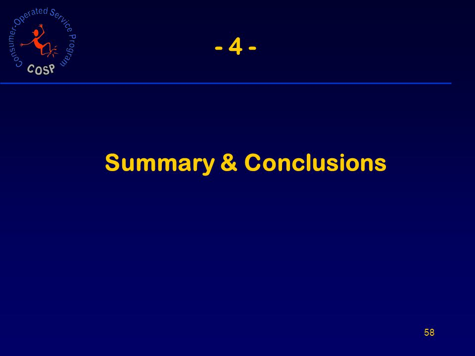 58 - 4 - Summary & Conclusions