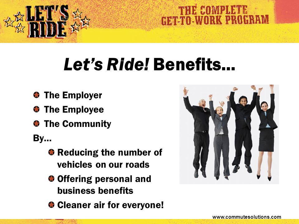www.commutesolutions.com Let's Ride.