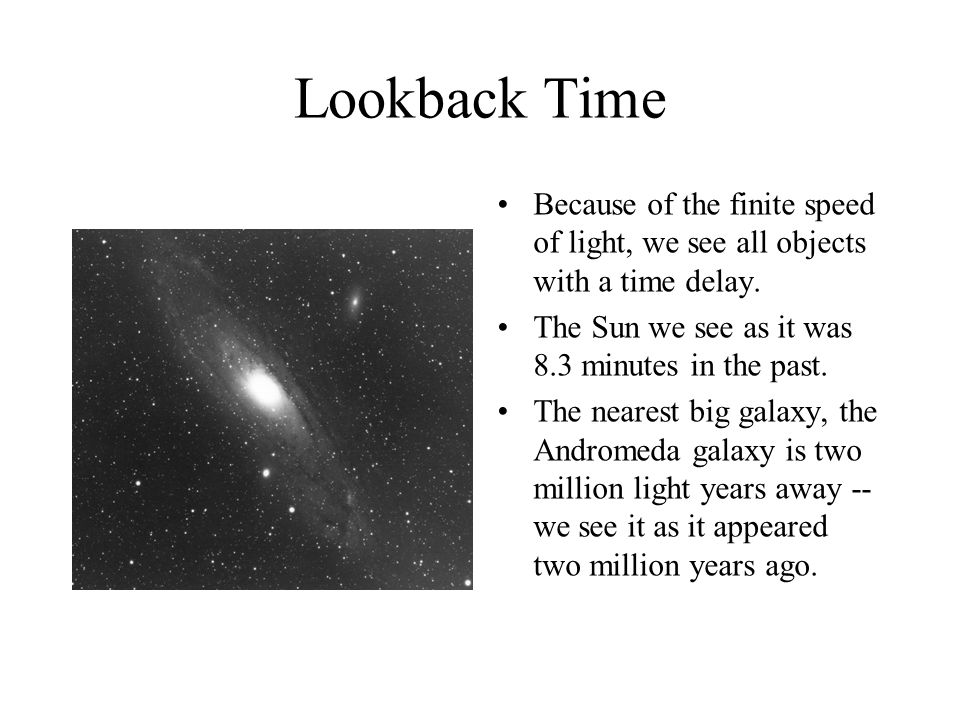 Q. What is a Light Year. First, this is a unit of distance, not time.
