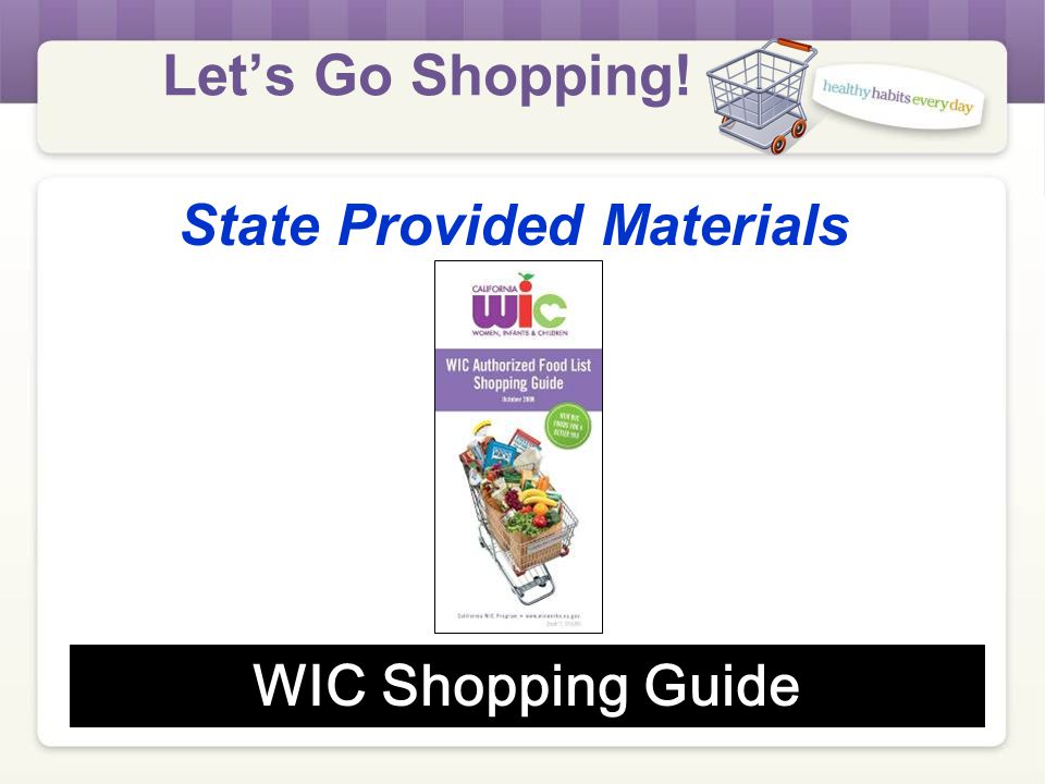 Let's Go Shopping! State Provided Materials Sorting Cards