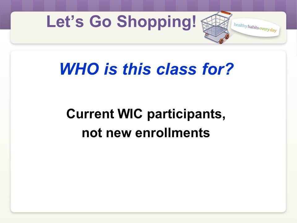 Let's Go Shopping! LET'S GO SHOPPING! GROUP EDUCATION
