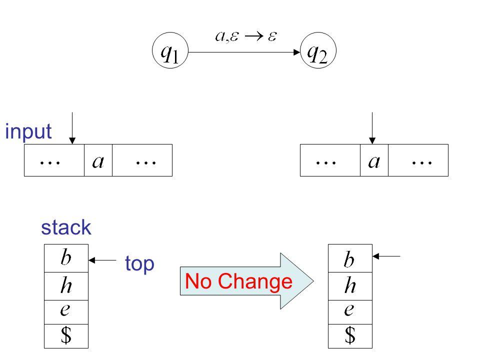 No Change top input stack