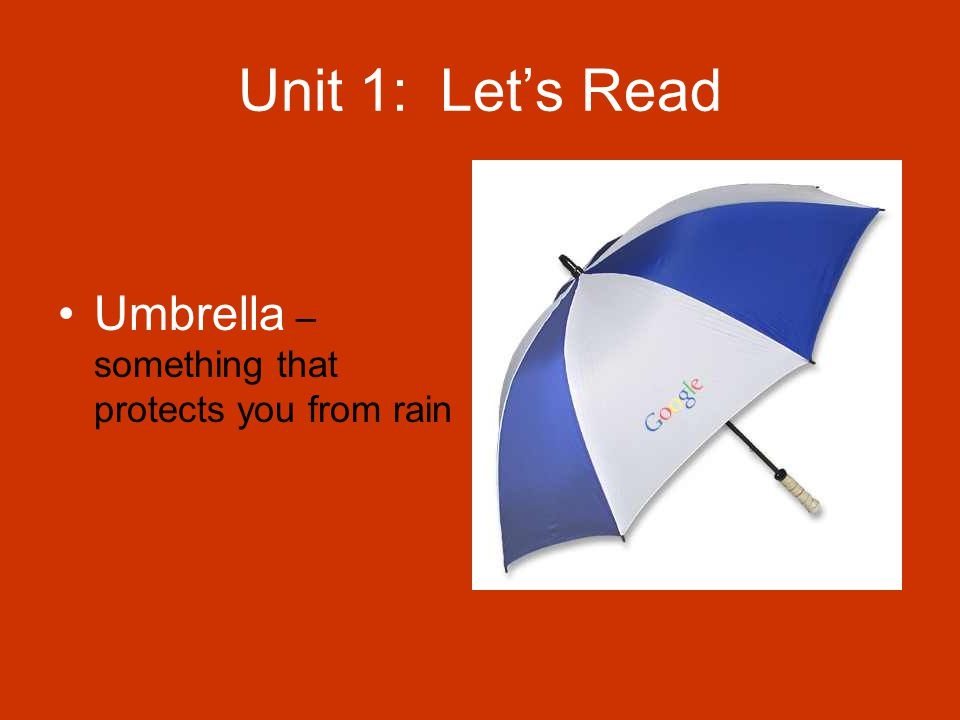 Unit 1: Let's Read Smooth – something that is not rough