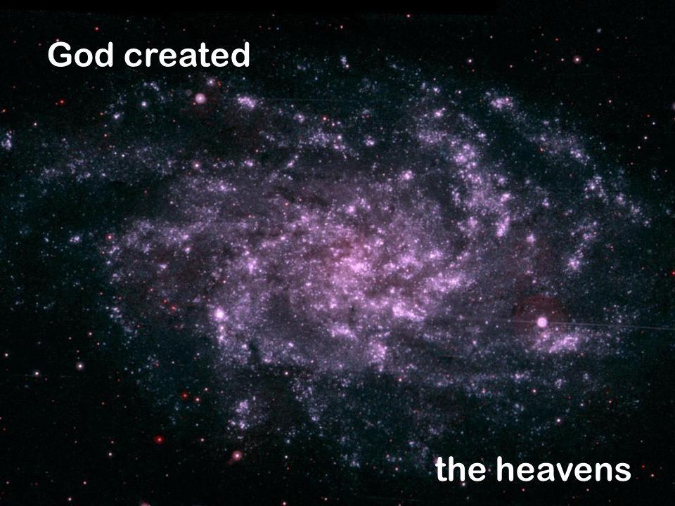 the heavens God created