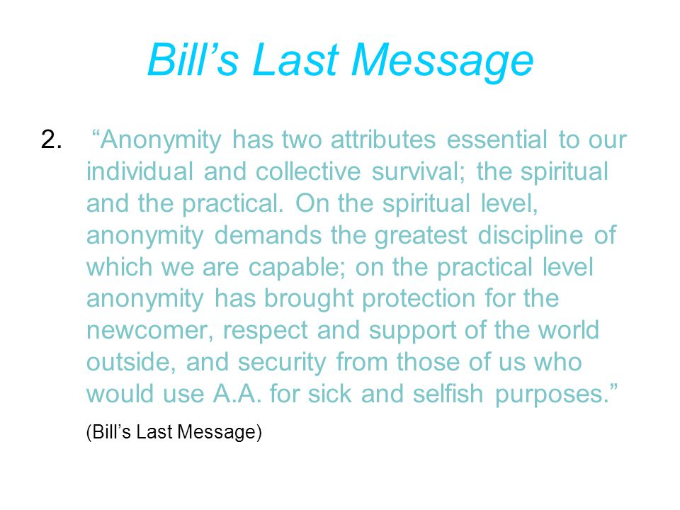 Bill's Last Message 2.