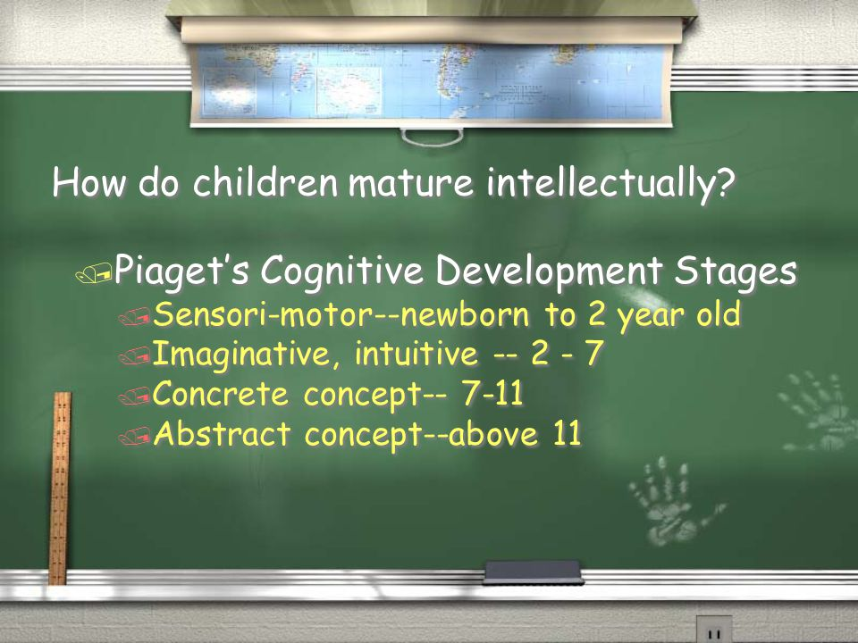 How do children mature intellectually.