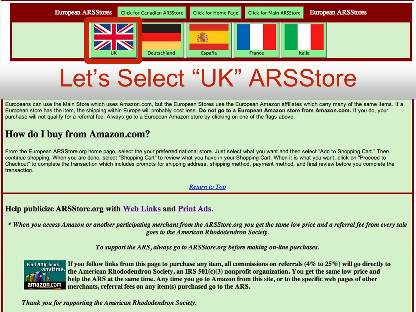 Let's Select UK ARSStore