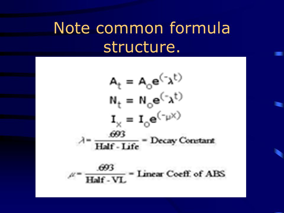 Note common formula structure.