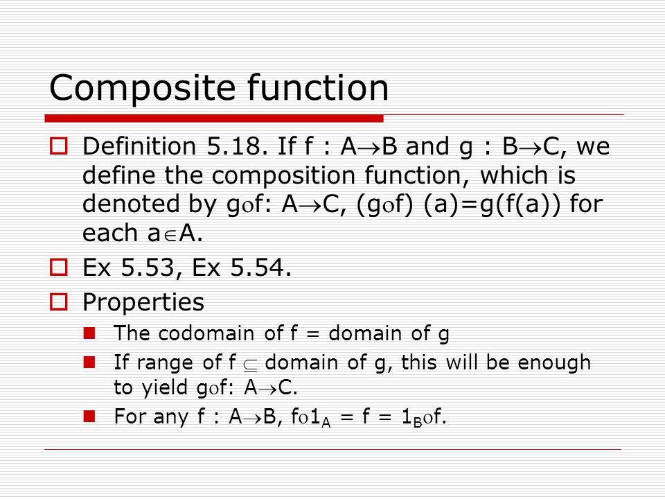 Composite function  Definition 5.18.
