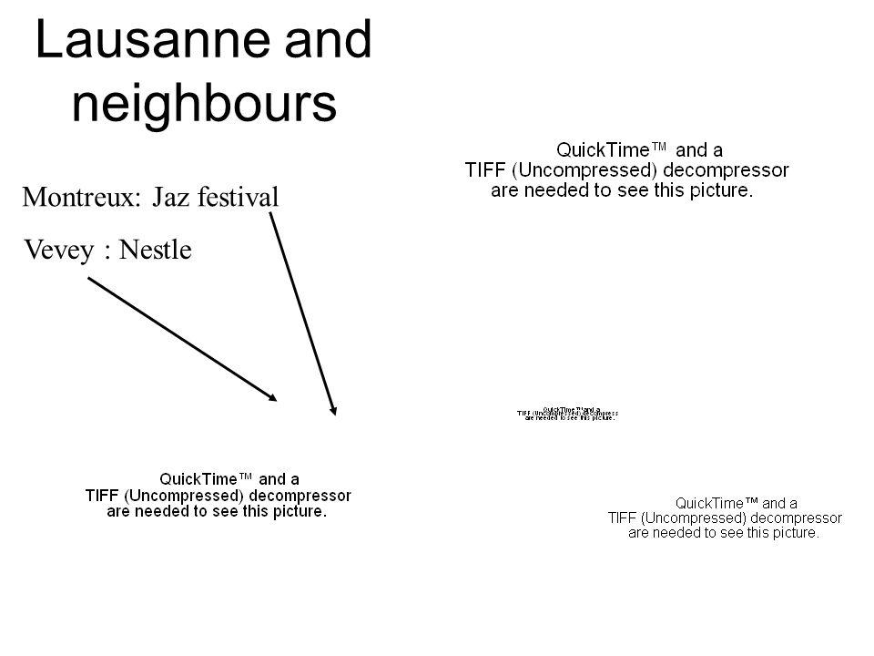 Lausanne and neighbours Vevey : Nestle Montreux: Jaz festival