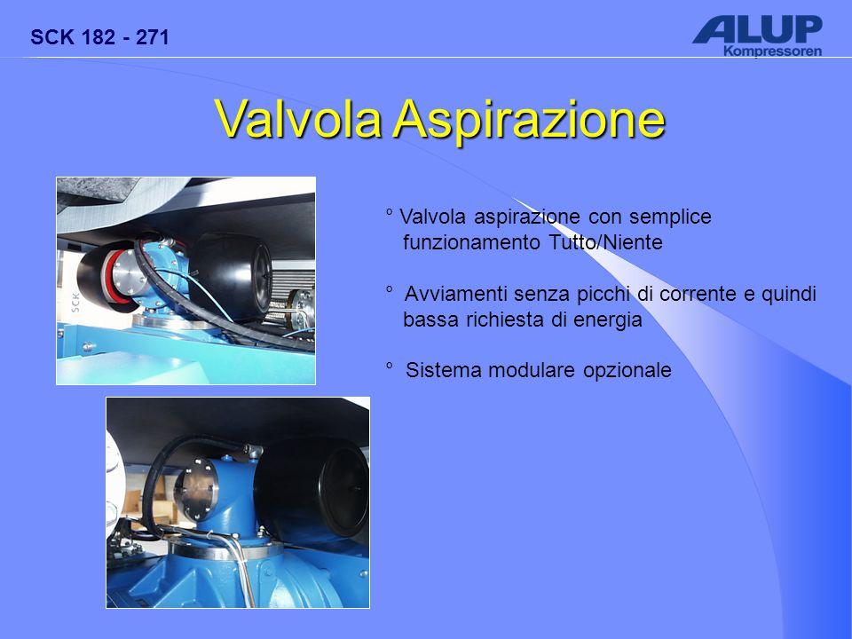 SCK 182 - 271 Valvola Aspirazione ° Valvola aspirazione con semplice funzionamento Tutto/Niente ° Avviamenti senza picchi di corrente e quindi bassa r