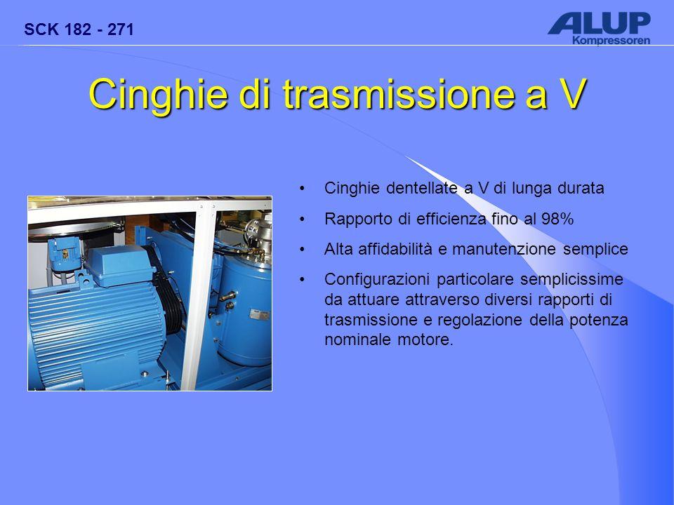 SCK 182 - 271 Cinghie di trasmissione a V Cinghie dentellate a V di lunga durata Rapporto di efficienza fino al 98% Alta affidabilità e manutenzione s