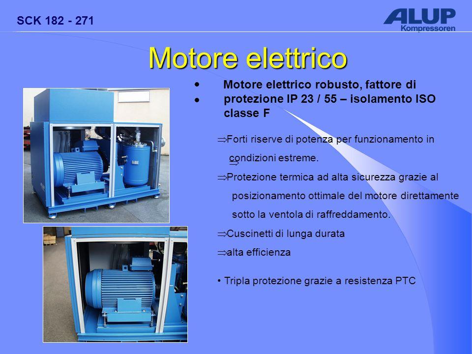 SCK 182 - 271   Motore elettrico  Motore elettrico robusto, fattore di protezione IP 23 / 55 – isolamento ISO classe F  Forti riserve di potenza p