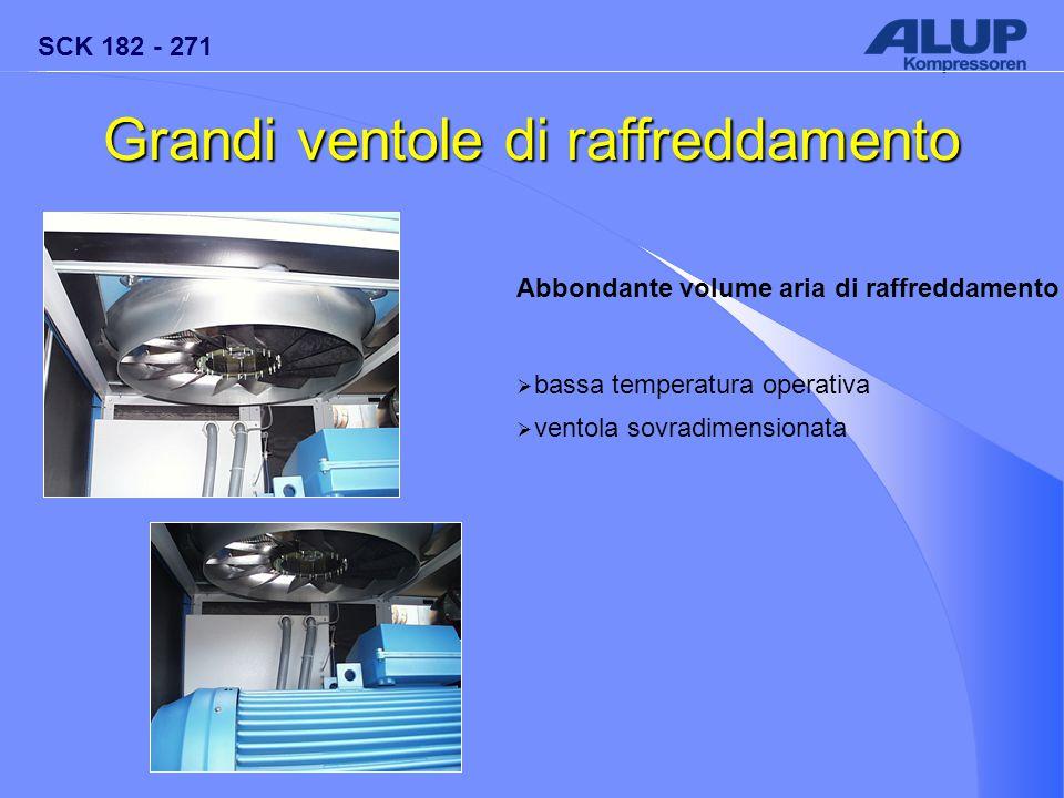 SCK 182 - 271 Abbondante volume aria di raffreddamento  bassa temperatura operativa  ventola sovradimensionata Grandi ventole di raffreddamento