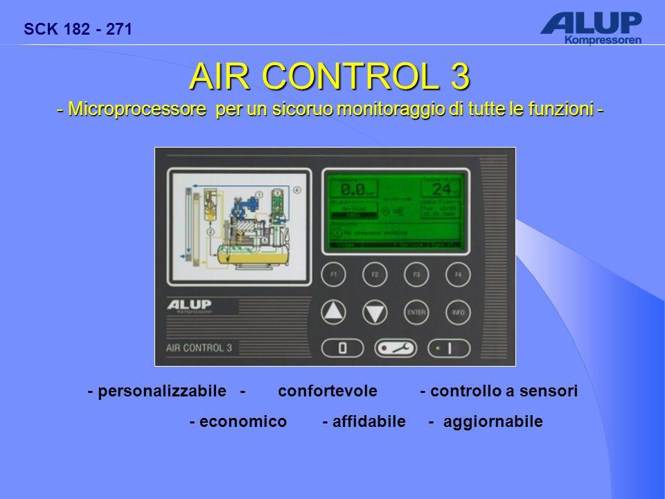 SCK 182 - 271 AIR CONTROL 3 - Microprocessore per un sicoruo monitoraggio di tutte le funzioni - - personalizzabile - confortevole- controllo a sensor