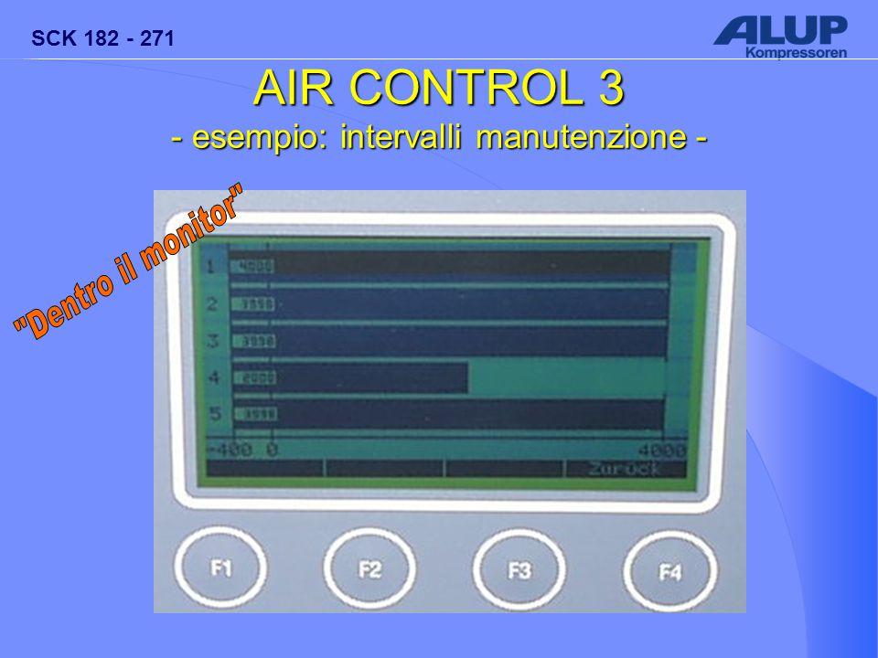SCK 182 - 271 AIR CONTROL 3 - esempio: intervalli manutenzione- - esempio: intervalli manutenzione -
