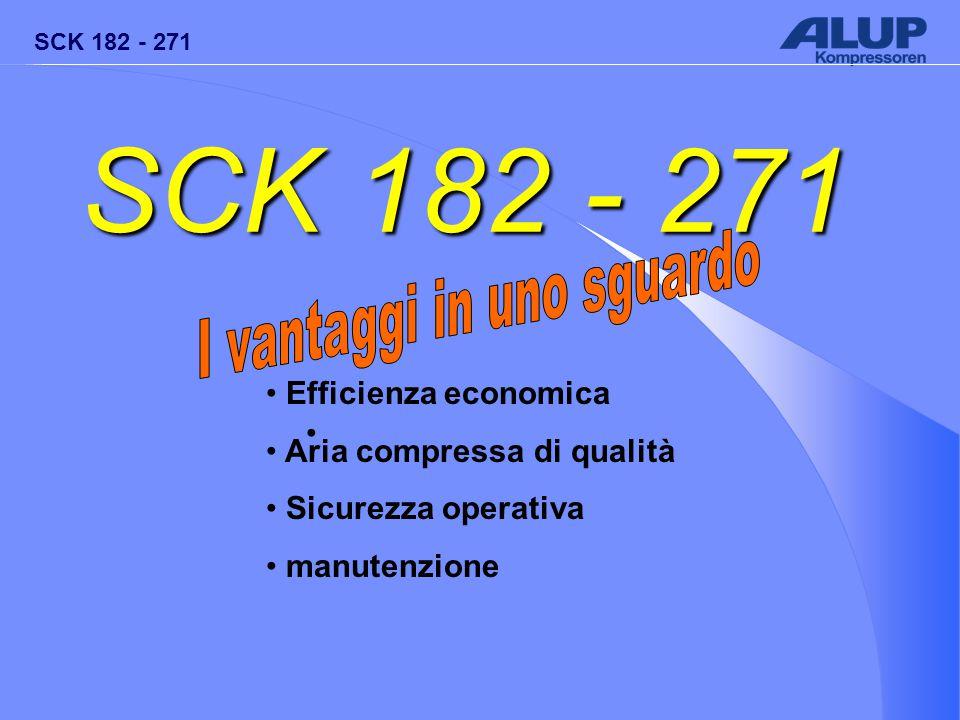 SCK 182 - 271 Efficienza economica Aria compressa di qualità Sicurezza operativa manutenzione