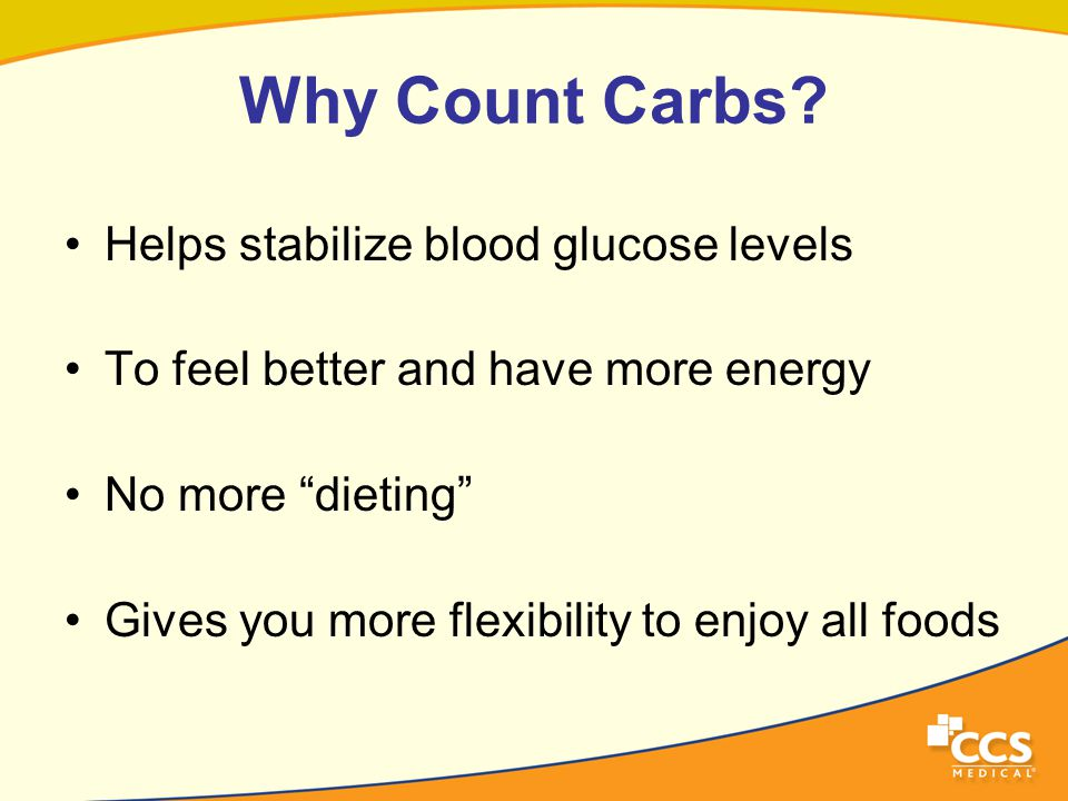 Why Count Carbs.