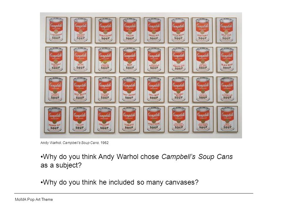 Andy Warhol. Campbell's Soup Cans.